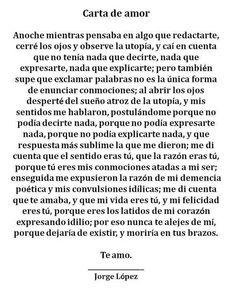 Carta de amor... #Frasesdeamornovios