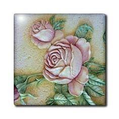 "Ceramic Roses - 12 Inch Ceramic Tile by Florene. $22.99. High gloss finish. Dimensions: 12"" H x 12"" W x 1/4"" D. Construction grade. Floor installation not recommended.. Clean with mild detergent. Image applied to the top surface. Ceramic Roses Tile is great for a backsplash, countertop or as an accent. This commercial quality construction grade tile has a high gloss finish. The image is applied to the top surface and can be cleaned with a mild detergent.. Save 15% Off!"
