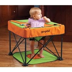 Just received it in the mail and can't wait to take it with us when we go camping this summer/fall. It folds up like a camping chair. Will also work great for Harlee's Softball games!!