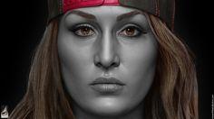 ArtStation - Nikki Bella - WWE, Hossein Diba