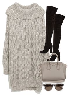 """""""Untitled #3103"""" by angieswardrobe ❤ liked on Polyvore featuring Zara, Gianvito Rossi, Givenchy and Yves Saint Laurent"""