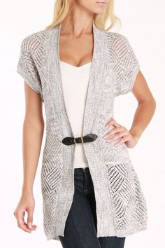 Belted Cardigan-love the soft grey