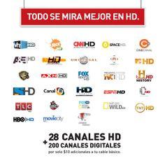 Encuentra los canales HD que te ofrece Claro.