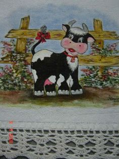 Arte Do Galo, Down On The Farm, Tole Painting, Cows, Snoopy, Miniatures, Kids Rugs, Drawings, Crafts