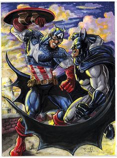Cap vs. Bats Commission by ~RayDillon on deviantART