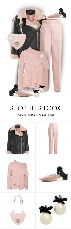 """""""Wear It...In A Pink Sweater"""" by onesweetthing ❤ liked on Polyvore featuring Topshop, Joseph, Philosophy di Lorenzo Serafini, Jeffrey Campbell, Versace and Kate Spade"""