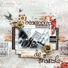 SCRAP ADDICT: 'Beaucoup de Marche' Layout - My Creative Scrapbook Limited Edition Kit August 2013 - Kaisercraft/Prima
