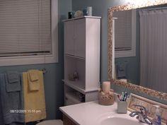 Aqua & Brown Small Bathroom