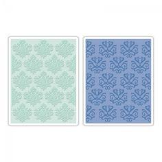Sizzix Textured Impressions Embossing Folders 2PK - Classical Beauty & Baroque Wallpaper Set