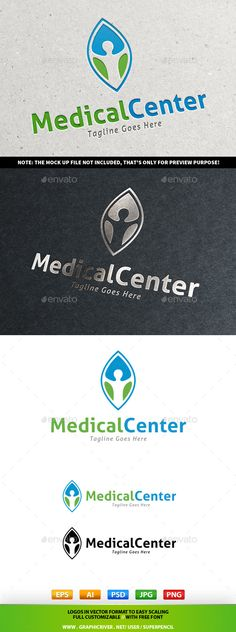 Medical Center Logo — Photoshop PSD #welfare #safe • Available here → https://graphicriver.net/item/medical-center-logo/9747117?ref=pxcr