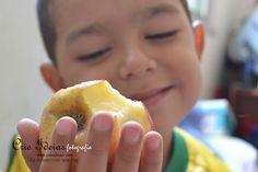 Nada melhor do que uma maçã e um sorriso! Crie Ideias!
