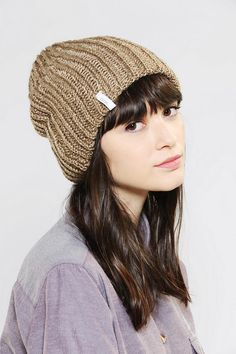 eb90bfa6525 Super-slouchy and super-soft beanie hat from Coal. Rib-knit in a cozy  silhouette.