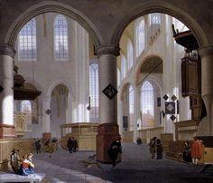 """8 мая. """"Interior of the Oude Kerk Delft."""" Cornelis de Man"""