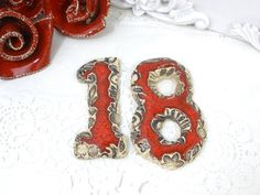 Ceramic house numbers Outdoor house numbers Ceramic by orlydesign