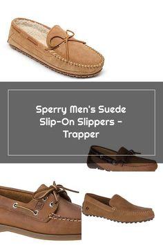 Sperry Men's Suede Slip-On Slippers - Trapper Sperrys Men, Boat Shoes, Slippers, Slip On, Fashion, Moda, Fashion Styles, Slipper