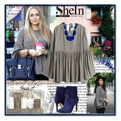 """""""Blouse Shein"""" by sirena39 ❤ liked on Polyvore featuring Baylis & Harding, GUESS, INC International Concepts, women's clothing, women, female, woman, misses and juniors"""