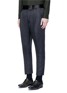 HAIDER ACKERMANN - Satin waistband jacquard pants | Black Slim Fit Pants Pants & Shorts | Men | Lane Crawford - Shop Designer Brands Online