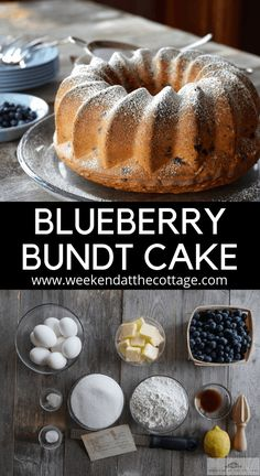 A hint of lemon sets this cake apart. Serve it anytime of day with a simple dusting of icing sugar or whipped cream. Blueberry Desserts, Blueberry Cake, Bunt Cakes, Wild Blueberries, Salty Cake, Cake Tasting, Summer Desserts, Unique Desserts, Summer Treats