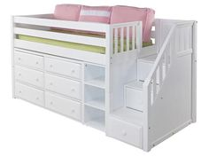 Great 1 Low Loft Storage Bed with Staircase $2,149.00