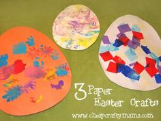 3 Paper Easter Crafts for Toddlers by deborah
