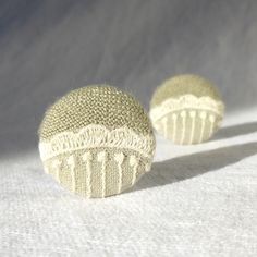 Items similar to Fabric Button with Vintage Lace, Ivory Lace Buttons, Sage Green Shank Style on Etsy Fabric Covered Button, Covered Buttons, Lace Button, Vintage Lace, Ivory, Trending Outfits, Shank, Unique Jewelry, Handmade Gifts