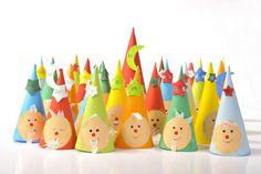 adventní kalendář - papírové kornouty - možno zapojit do výroby i děti:)