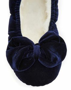 BOWBURY Womens Velvet Slipper