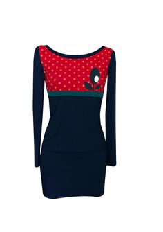 "Minikleid "" POINT TWO "" rot-navy"