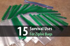 Although most people only use Ziploc bags for storing food, there are at least a dozen other ways to use them in a survival scenario.