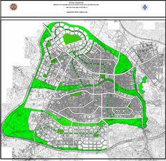 Atatürk Üniversitesi Şehir ve Bölge Planlama Bölümü Gaziantep ili 1/5000 Yeşil Sistem Paftası