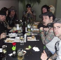 Oh look at Brian's face ♥ Avenged Sevenfold