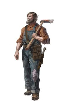 Welp, an apocalyptic lumberjack Post Apocalypse, Dnd Characters, Fantasy Characters, Character Concept, Character Art, Apocalypse Character, Post Apocalyptic Art, D20 Modern, Savage Worlds