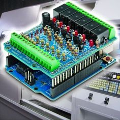 Arduino as a programmable logic controller (PLC) - Open Electronics Esp8266 Arduino, Arduino Programming, Arduino Modules, Diy Electronics, Electronics Projects, Computer Projects, Arduino Board, Diy Tech, Raspberry Pi Projects
