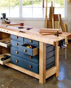 #2914 Shaker Workbench Plans - Workshop Solutions