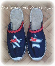 Las diademas de mis hijas: ¡¡ AL FIN ,LLEGÓ EL VERANITO!! Kinds Of Shoes, Ciabatta, Shoe Closet, Me Too Shoes, Espadrilles, Baby Shoes, Slippers, Sewing, My Style