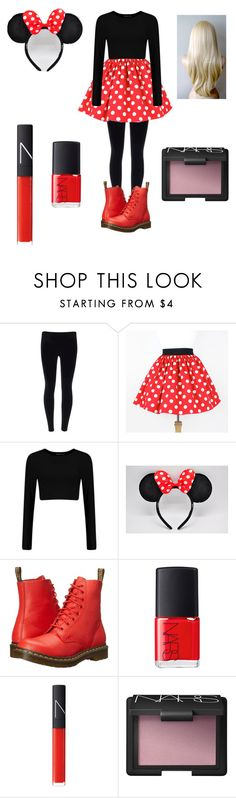 """minie-mouse costume for halloween"" by candy-girl-03 on Polyvore featuring Dr. Martens and NARS Cosmetics"