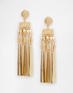 Immagine 1 di ASOS - Orecchini con pendenti piatti stile bohémien
