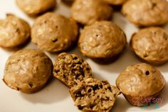 Peanut Butter Protein and Cacao Nib Muffin Recipe #muffins #proteinmuffins #iifym #fitspo #fitfoodie #proteinrecipes #healthy
