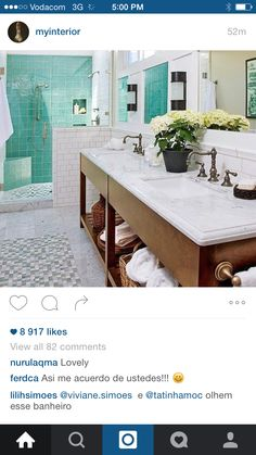 Love these bathroom cabinets and colour scheme