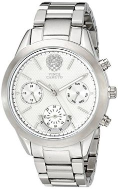 Women's Wrist Watches - Vince Camuto Womens VC5243SVSV MultiFunction Dial SilverTone Bracelet Watch -- Visit the image link more details. (This is an Amazon affiliate link)
