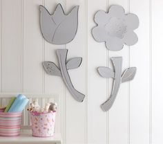 tulip shaped mirror, $124, Pottery Barn