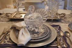 Thanksgiving table setting by Romantic Home, via Flickr