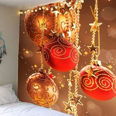 Wall Hanging Star Chain and Ball Pattern Tapestry - COLORFUL W79 INCH * L71 INCH