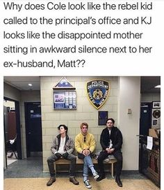 Omg so true😂😂😂😂 Why is Kj sitting like a girl? 😂😂😂😂😂😂<<< I'm getting vibes of Katniss, Effie and Hamich from Hunger Games lol😂 Stupid Funny Memes, Funny Relatable Memes, Haha Funny, Funny Posts, Funny Quotes, Memes Riverdale, Bughead Riverdale, Riverdale Funny, Riverdale Betty