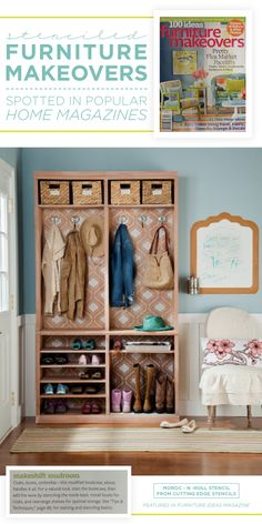 Does your entryway need a storage boost? Look no further than this easy bookcase hack. Simply find a bookcase that fits your space and customize it to fit your needs with our help. Does your entryway n Entryway Storage, Entryway Organization, Entryway Decor, Entryway Ideas, Organization Station, Entry Foyer, Furniture Makeover, Diy Furniture, Recycling Furniture