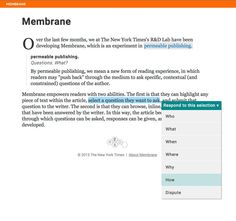 Membrane: An Experiment in Permeable Publishing