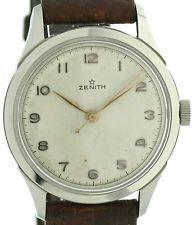 Zenith Herren Vintage Armbanduhr in Stahl ca. 40er Jahre, Kal. 106-50, selten