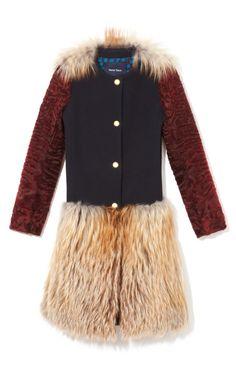 Peter Som Gold Fox Coat