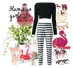 """""""flamingo girl"""" by sonitsa ❤ liked on Polyvore featuring Currey & Company, LSA International, John Lewis, David Koma, Bijoux de Famille, Skinnydip, Antonio Marras, Accessorize, Ariella Collection and Sophia Webster"""