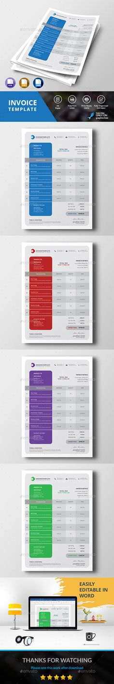 Invoice  Invoice Design Brand Identity And Business Proposal